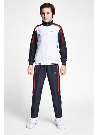 Lescon Beyaz Antrasit Çocuk Eşofman Takımı 20B-3043 Renkli